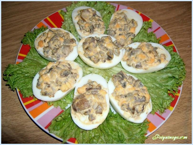 Фаршированные яйца рецепт начинки с фото