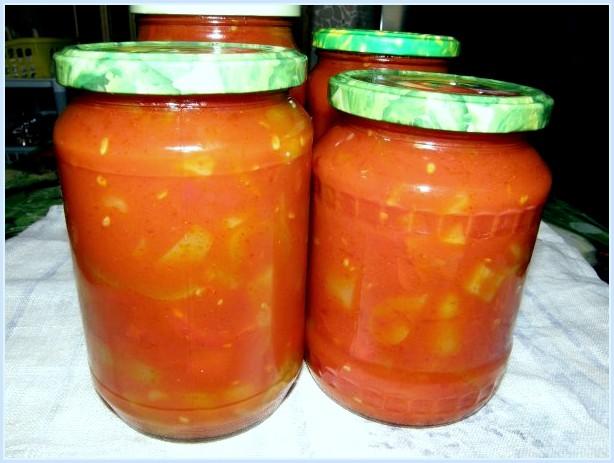Лечо 1 кг помидор 2 кг перца,200 гр сахара,2 ст.л. соли без верха,2 ст